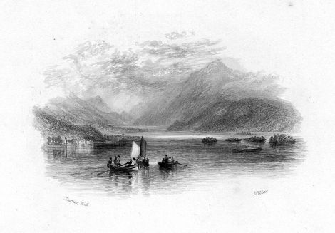 Loch Lomond 1832 Watercolour for Roger's Poems
