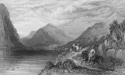 Loch Lubnaig [Artist: John Fleming Engraver Joseph Swan]